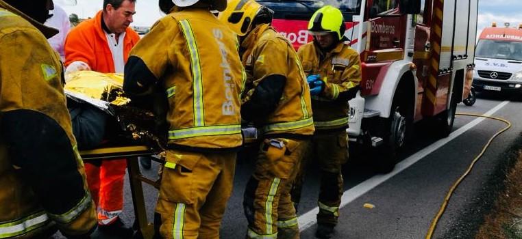 bomberos accidente cv-95